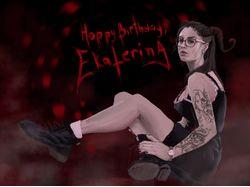 Демоническая открытка на День рождения