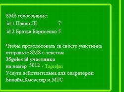 СМС голосование для сайта fz3.com.ua