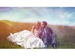 Обработка свадебного фото