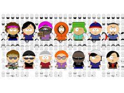 """Набор элементов в стиле """"персонажи из South Park"""""""