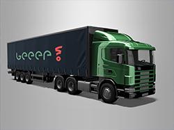 Логотип сервиса по аренде спецтехники и перевозкам