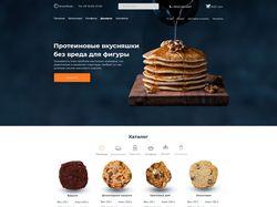 Веб-дизайн для магазина сладостей