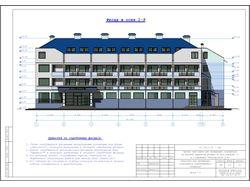 """Фасад гостиницы для спортсменов СТК """"Zinedin"""""""