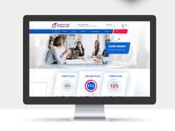 Дизайн сайта компании по работе с криптовалютой