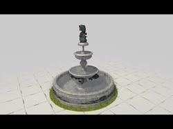 3D webgl фонтан