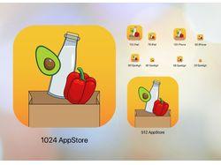 Логотип для iOS приложения списка покупок