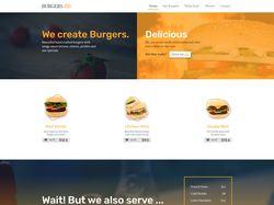 Вёрстка лендинга - Burgers.co