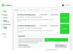 Фронт на React.js для проекта The Event Site