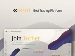Логотип  и дизайн сайта трейдинговой платформы