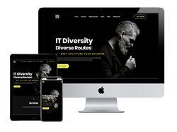 Адаптивный лендинг IT Diversity