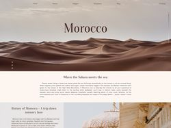 Landing Page of Morocco