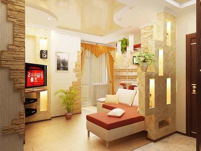 Дизайн для маленькой гостиной прихожей