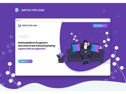 Landing page Battle for Cash