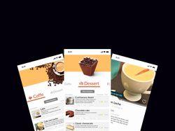 Дизайн мобильного приложения по доставке кофе.