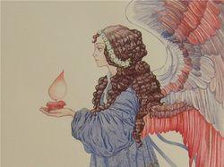 Ангел с красной свечей