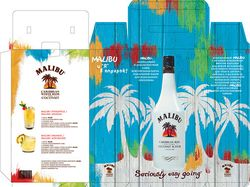 Дизайн коробки для бутылки Malibu