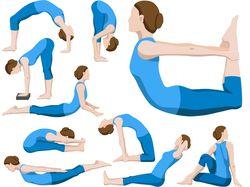 Векторные иллюстрации поз йоги