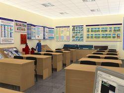Моделил учебный класс для конторы)
