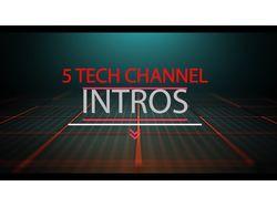 Примеры 5 Интро для Техно Канала в After Effects