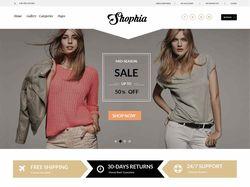 Верстка Shophia