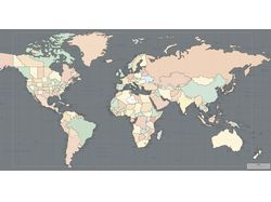 Карта, содержит все материки