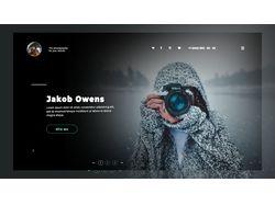 Дизайн сайта-визитки об услугах фотографа