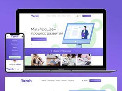 """Дизайн сайта обучающего портала """"Torch"""""""