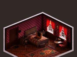 Hotel room isometric