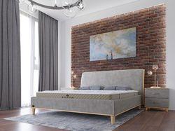 Визуализация кровати, матраса в интерьере