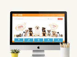 Сайт по поиску услуг для животных