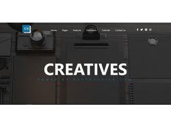 Макет сайта для студии креатива