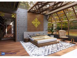 Спальня, в современном стиле