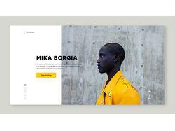 Дизайн сайта для фотографа