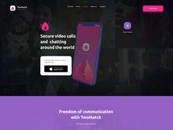 Создание landing page для приложения VideoChat