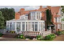 Sketches of a veranda for a house England