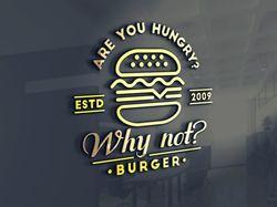 Лого для бургер кафе