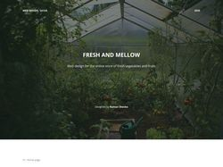Fresh and Mellow - e-commerce design