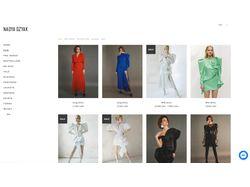 Сайт дизайнера одежды Надежды Дзяк