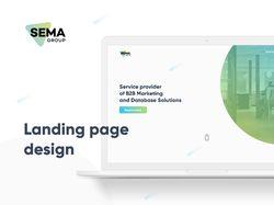 Sema - Дизайн Landing Page