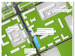 Карта проезда для центра психотехнологий Открытие