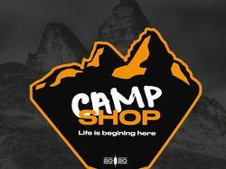 Логотипы в стиле ретро для магазина Camp Shop