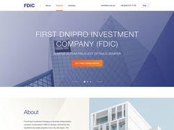 Лендинг для инвестиционной компании