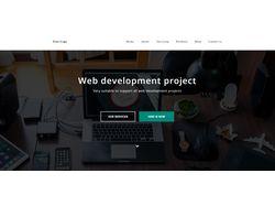Анимированный и адаптивный сайт