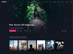 Музыкальный Сайт - Верстка