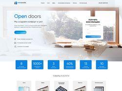"""Адаптивная верстка и анимация сайта """"Opendoors"""""""
