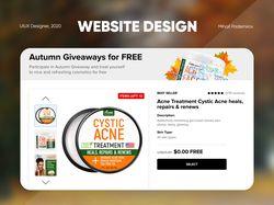 Дизайн сайта для Amazon Giveaway
