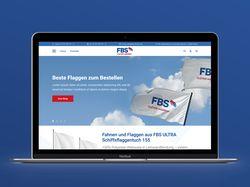Дизайн главной страницы немецкого магазина флагов