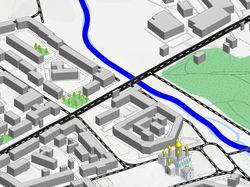 3D карта Магадана