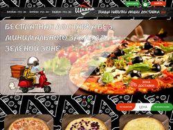 Сайт пиццерии с уникальным конструктором пиццы