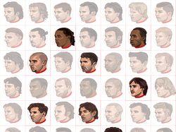 векторные портреты футболистов
